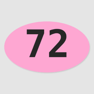 72 (hours, that is) ... for you 3-dayers oval sticker