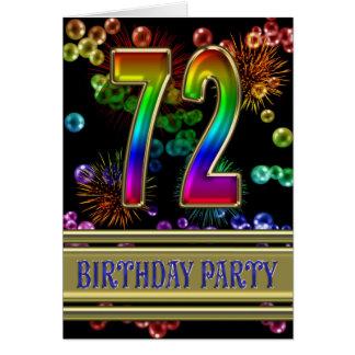 72.o Invitación de la fiesta de cumpleaños Tarjetón