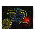 72.o Tarjeta de cumpleaños con los fuegos