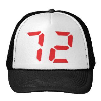 72 setenta y dos números digitales del despertador gorras