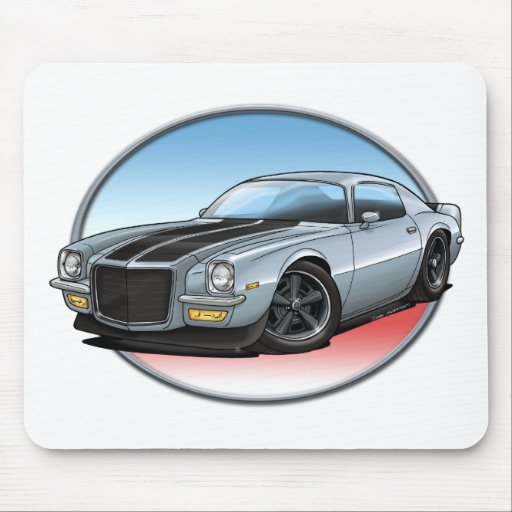 72 Silver Camaro.png Mousepad