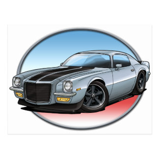 72 Silver Camaro.png Post Card