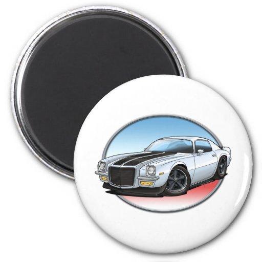 72 White B Camaro.png Fridge Magnet