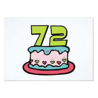 72 Year Old Birthday Cake Card