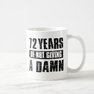 72 years classic white coffee mug