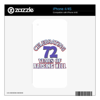 72 years of raising hell iPhone 4 decal