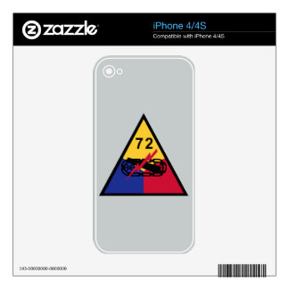 72nd Armored Division iPhone 4 Decal