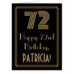 """[ Thumbnail: 72nd Birthday: Art Deco Inspired Look """"72"""" + Name Card ]"""