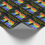 [ Thumbnail: 72nd Birthday: Colorful Music Symbols, Rainbow 72 Wrapping Paper ]