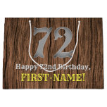 [ Thumbnail: 72nd Birthday: Country Western Inspired Look, Name Gift Bag ]