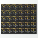 [ Thumbnail: 72nd Birthday: Elegant Luxurious Faux Gold Look # Wrapping Paper ]