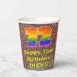 [ Thumbnail: 72nd Birthday: Fun Graffiti-Inspired Rainbow 72 ]