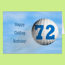 72nd birthday golfing card