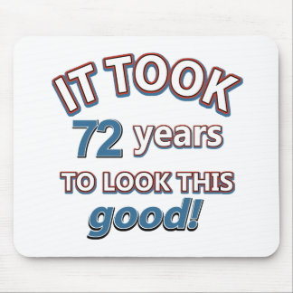 72nd year old birthday designs mouse pad