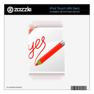 72Red Pencil_rasterized iPod Touch 4G Skin