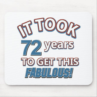 72th year birthday designs mouse pad