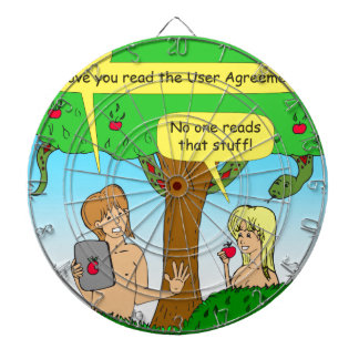 730 Adam and Eve terms and conditions cartoon Dartboard
