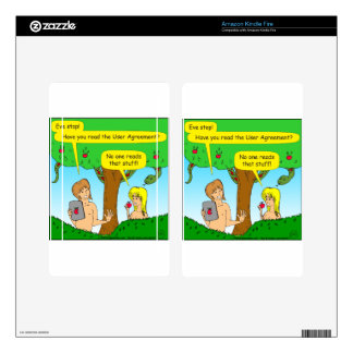 730 Adam and Eve terms and conditions cartoon Kindle Fire Skins