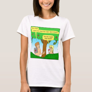 730 Adam and Eve terms and conditions cartoon T-Shirt