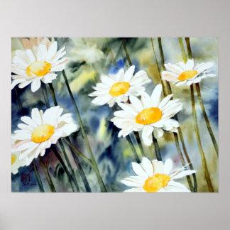 #7318 daisy poster print