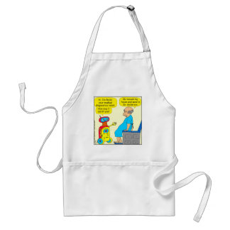 731 medical diagnostics robot cartoon adult apron