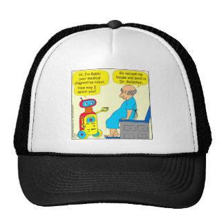 731 medical diagnostics robot cartoon trucker hat