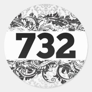 732 PEGATINA REDONDA