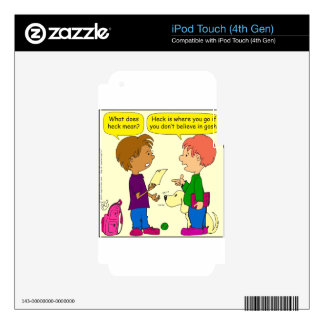 732 What does heck mean cartoon Decals For iPod Touch 4G