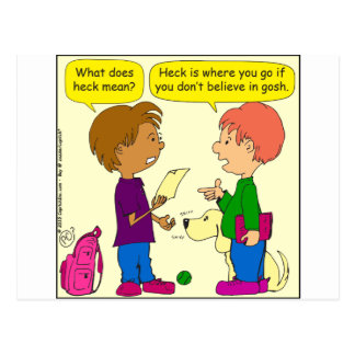 732 What does heck mean cartoon Postcard