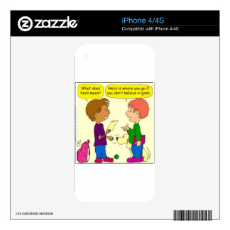 732 What does heck mean cartoon Skin For The iPhone 4S