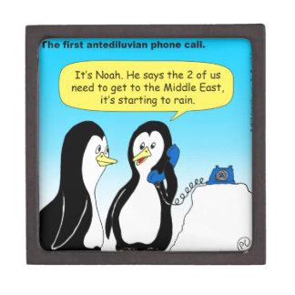 735 Antediluvian penguins cartoon Jewelry Box