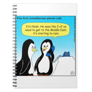 735 Antediluvian penguins cartoon Notebook