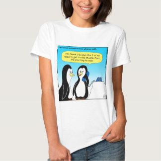 735 Antediluvian penguins cartoon T-shirt