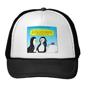 735 Antediluvian penguins cartoon Trucker Hat