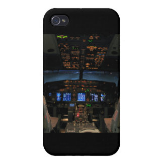 737 cockpit2, 737NG iPhone 4 Cases