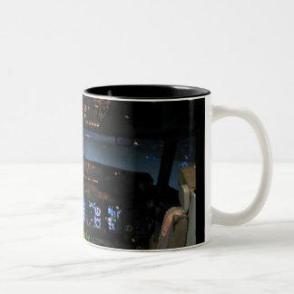 737 Cockpit Two-Tone Coffee Mug