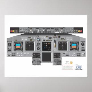 737NG Forward Panel Poster