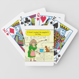 738 cooked spaghetti too long cartoon bicycle playing cards