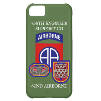 738TH ENGINEER SUPPORT CO 82ND ABN iPHONE CASE