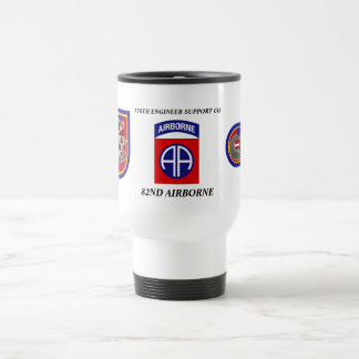 738TH ENGINEER SUPPORT CO 82ND ABN TRAVEL MUG