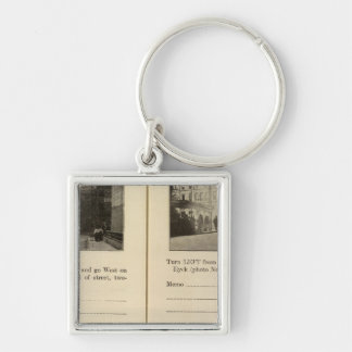73941 Albany Silver-Colored Square Keychain