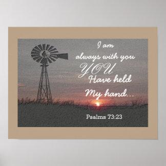 73:23 de los salmos - impresión del arte póster