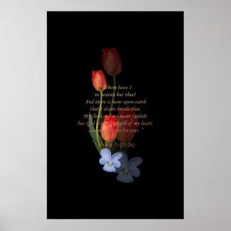 73:25 del salmo - 26 tulipanes póster
