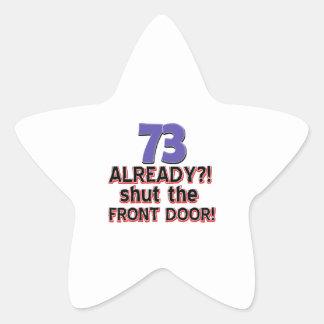 73 already? Shut the front door Star Sticker