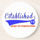 73 Birthday Aged To Perfection Drink Coaster