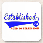 73 Birthday Aged To Perfection Drink Coasters
