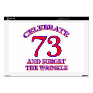73 birthday design laptop decal