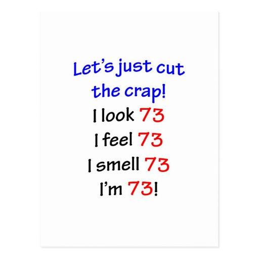 73 cortemos la mierda tarjetas postales