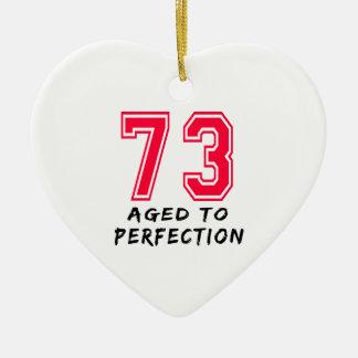 73 envejeció al diseño del cumpleaños de la perfec ornamentos de reyes