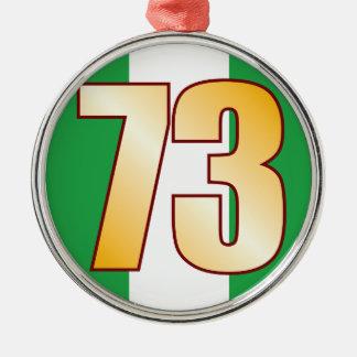 73 NIGERIA Gold Metal Ornament